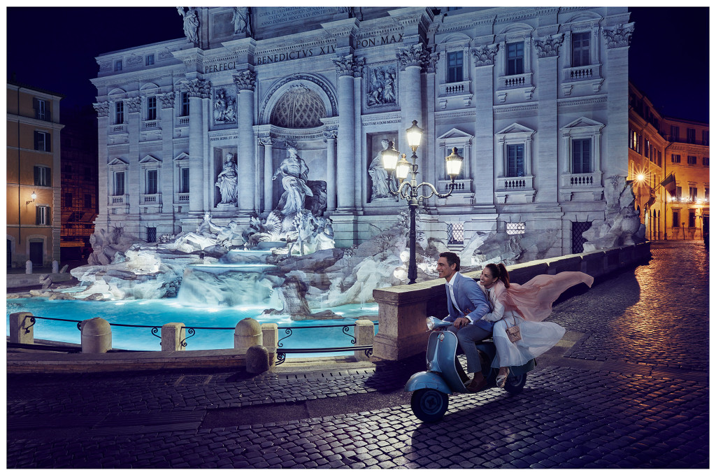 Erik Almas Advertsing and Editorial Photogarpher Crystal Cruise Rome Trevi Fountain
